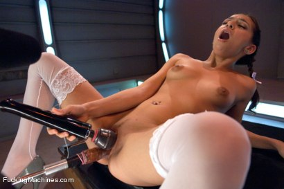 Photo number 4 from Hard Core Fucking of a Soft Core Girl shot for Fucking Machines on Kink.com. Featuring Sara Luvv in hardcore BDSM & Fetish porn.