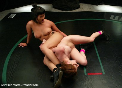 Photo number 10 from Part 2 of this weeks update.<br>Dragon (1-0) vs: Paris (0-0) shot for Ultimate Surrender on Kink.com. Featuring DragonLily and Paris Kennedy in hardcore BDSM & Fetish porn.