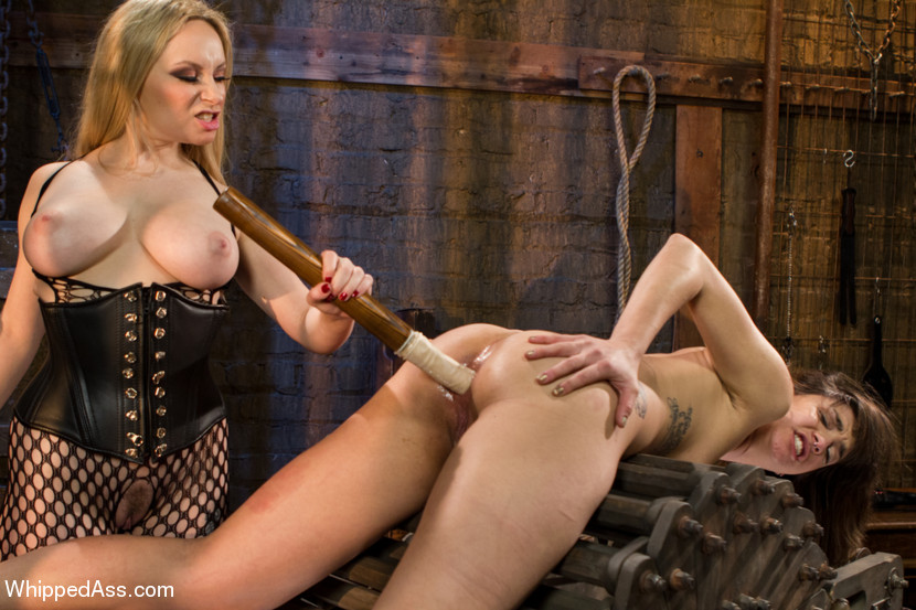 Rough lez bdsm slave
