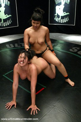 Photo number 15 from The Dragon (2-0) vs. The Samoan (0-1) shot for Ultimate Surrender on Kink.com. Featuring Mika Tan and DragonLily in hardcore BDSM & Fetish porn.