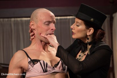 Photo number 8 from Sissification and Humiliation shot for Divine Bitches on Kink.com. Featuring Sean Spurt and Maitresse Madeline Marlowe in hardcore BDSM & Fetish porn.