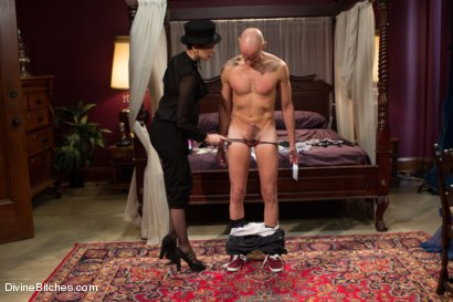 Photo number 3 from Sissification and Humiliation shot for Divine Bitches on Kink.com. Featuring Sean Spurt and Maitresse Madeline Marlowe in hardcore BDSM & Fetish porn.