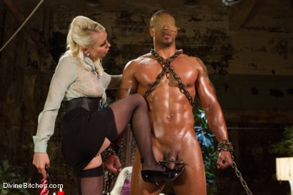 Photo number 2 from A Chastity Punishment For The Fuck Slave shot for Divine Bitches on Kink.com. Featuring Robert Axel and Lorelei Lee in hardcore BDSM & Fetish porn.
