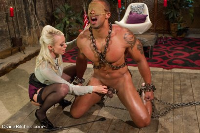 Photo number 4 from A Chastity Punishment For The Fuck Slave shot for Divine Bitches on Kink.com. Featuring Robert Axel and Lorelei Lee in hardcore BDSM & Fetish porn.