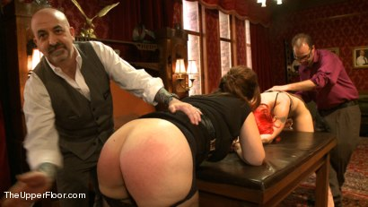 Photo number 4 from Newbie Flogging Brunch shot for The Upper Floor on Kink.com. Featuring Bella Rossi and Kristine Kahill in hardcore BDSM & Fetish porn.