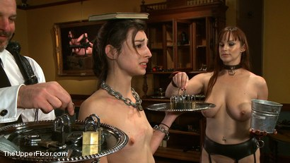 Photo number 3 from On Matters of Deportment shot for The Upper Floor on Kink.com. Featuring Bella Rossi and Kristine Kahill in hardcore BDSM & Fetish porn.
