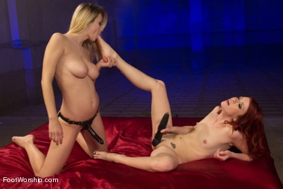 Photo number 8 from An Uninhibited Lesbian Foot Fetish Fantasy shot for Foot Worship on Kink.com. Featuring Natalia Starr and Elle Alexandra in hardcore BDSM & Fetish porn.