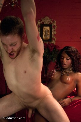 Photo number 9 from Transsexual Seductress Chanel Couture, her MASSIVE COCK and Her Slave shot for TS Seduction on Kink.com. Featuring Chanel Couture and Sebastian Keys in hardcore BDSM & Fetish porn.