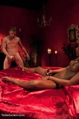 Photo number 11 from Transsexual Seductress Chanel Couture, her MASSIVE COCK and Her Slave shot for TS Seduction on Kink.com. Featuring Chanel Couture and Sebastian Keys in hardcore BDSM & Fetish porn.