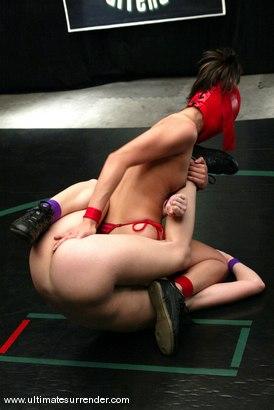 Photo number 9 from Ninja (6-0) vs Sarah Blake (0-0) shot for Ultimate Surrender on Kink.com. Featuring Sarah Blake and Crimson Ninja in hardcore BDSM & Fetish porn.