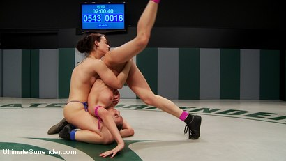 Photo number 11 from The Wrangler takes on Turbo with a lot at stake for both wrestlers shot for Ultimate Surrender on Kink.com. Featuring Cheyenne Jewel and Tiffany Tyler in hardcore BDSM & Fetish porn.