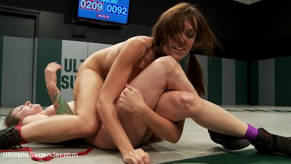 """Photo number 5 from Awesome Light Weight match up with """"the Thorn"""" vs """"The miracle Maker"""" shot for Ultimate Surrender on Kink.com. Featuring Audrey Rose and Missy Minks in hardcore BDSM & Fetish porn."""