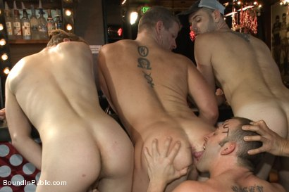 Photo number 10 from Feisty Birthday Slut shot for Bound in Public on Kink.com. Featuring Jeremy Stevens, Everett Jagger and Cole Streets in hardcore BDSM & Fetish porn.