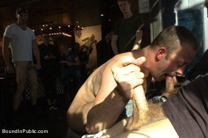 Photo number 2 from Feisty Birthday Slut shot for Bound in Public on Kink.com. Featuring Jeremy Stevens, Everett Jagger and Cole Streets in hardcore BDSM & Fetish porn.