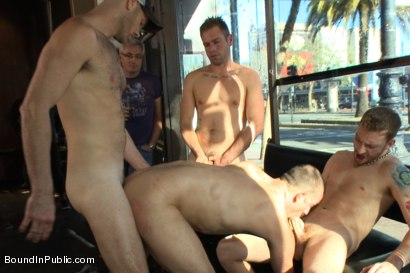 Photo number 13 from Feisty Birthday Slut shot for Bound in Public on Kink.com. Featuring Jeremy Stevens, Everett Jagger and Cole Streets in hardcore BDSM & Fetish porn.
