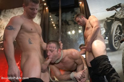 Photo number 2 from The Feisty Slut Go-Go Dancer shot for Bound in Public on Kink.com. Featuring Jeremy Stevens, Everett Jagger and Cole Streets in hardcore BDSM & Fetish porn.