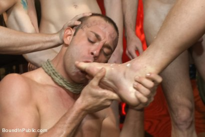 Photo number 12 from The Feisty Slut Go-Go Dancer shot for Bound in Public on Kink.com. Featuring Jeremy Stevens, Everett Jagger and Cole Streets in hardcore BDSM & Fetish porn.