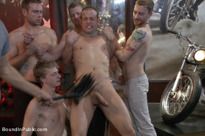 Photo number 5 from The Feisty Slut Go-Go Dancer shot for Bound in Public on Kink.com. Featuring Jeremy Stevens, Everett Jagger and Cole Streets in hardcore BDSM & Fetish porn.