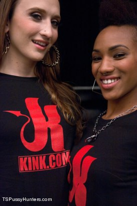 Photo number 1 from Kink Studios Tour Guide Porn shot for TS Pussy Hunters on Kink.com. Featuring Jacqueline Woods and Nikki Darling in hardcore BDSM & Fetish porn.