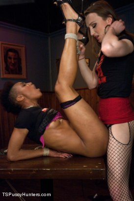 Photo number 5 from Kink Studios Tour Guide Porn shot for TS Pussy Hunters on Kink.com. Featuring Jacqueline Woods and Nikki Darling in hardcore BDSM & Fetish porn.