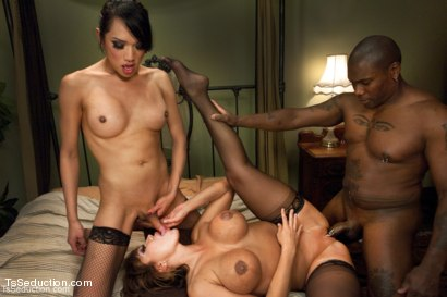 Photo number 11 from  The Husband, The Wive & their Dominatrix: A Dirty Threesome shot for TS Seduction on Kink.com. Featuring Ava Devine, Jessica Fox and Jack Hammer in hardcore BDSM & Fetish porn.
