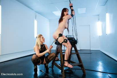 Photo number 6 from Bella Rossi is Back for More Electrosex! shot for Electro Sluts on Kink.com. Featuring Ashley Fires and Bella Rossi in hardcore BDSM & Fetish porn.