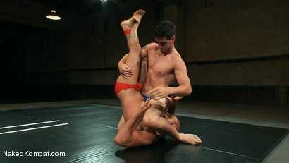 Photo number 1 from Mini Tournament NK Style - Tag Team  shot for Naked Kombat on Kink.com. Featuring Leo Forte, Blake Daniels, Tanner Wayne and Tyler Alexander in hardcore BDSM & Fetish porn.