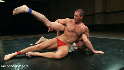 Photo number 2 from Mini Tournament NK Style - Tag Team  shot for Naked Kombat on Kink.com. Featuring Leo Forte, Blake Daniels, Tanner Wayne and Tyler Alexander in hardcore BDSM & Fetish porn.