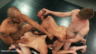 Photo number 12 from Mini Tournament NK Style - Tag Team  shot for Naked Kombat on Kink.com. Featuring Leo Forte, Blake Daniels, Tanner Wayne and Tyler Alexander in hardcore BDSM & Fetish porn.