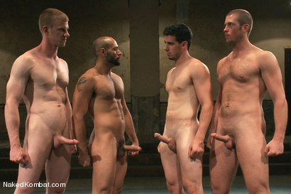 Photo number 15 from Mini Tournament NK Style - Tag Team  shot for Naked Kombat on Kink.com. Featuring Leo Forte, Blake Daniels, Tanner Wayne and Tyler Alexander in hardcore BDSM & Fetish porn.