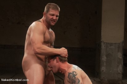 Photo number 13 from Trent Diesel vs Colby Jansen <br> Trent Diesel Last Porn Shoot Ever! shot for Naked Kombat on Kink.com. Featuring Trent Diesel and Colby Jansen in hardcore BDSM & Fetish porn.