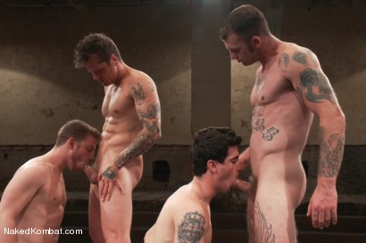 Photo number 9 from Mini Tournament NK Style - Battles of the Bad Boys shot for Naked Kombat on Kink.com. Featuring Tyler Alexander, Parker London, Sebastian Keys and Ricky Sinz in hardcore BDSM & Fetish porn.