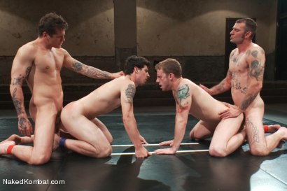 Photo number 14 from Mini Tournament NK Style - Battles of the Bad Boys shot for Naked Kombat on Kink.com. Featuring Tyler Alexander, Parker London, Sebastian Keys and Ricky Sinz in hardcore BDSM & Fetish porn.