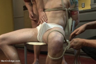 Photo number 3 from Jeremy Stevens and The Perverted Underwear Thieves - Part Two  shot for Men On Edge on Kink.com. Featuring Jeremy Stevens and Sebastian Keys in hardcore BDSM & Fetish porn.