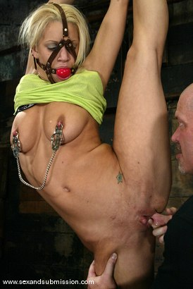 Photo number 1 from Mia Bangg and Mark Davis shot for Sex And Submission on Kink.com. Featuring Mia Bangg and Mark Davis in hardcore BDSM & Fetish porn.