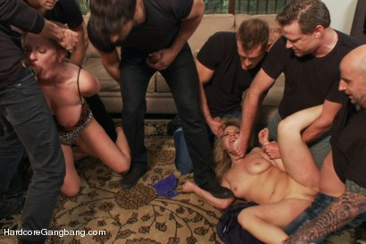 Photo number 2 from Slutty Step-Sisters get Gangbanged by 8 Men!! shot for Hardcore Gangbang on Kink.com. Featuring Andrea Acosta, Xander Corvus, Owen Gray, Vicky Vixen, Toni Ribas, John Strong, Dick Chibbles, Bill Bailey, Ramon Nomar and Astral Dust in hardcore BDSM & Fetish porn.