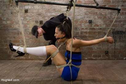 Photo number 3 from Lyla Storm - Complete Edited Live Show shot for Hogtied on Kink.com. Featuring Lyla Storm in hardcore BDSM & Fetish porn.