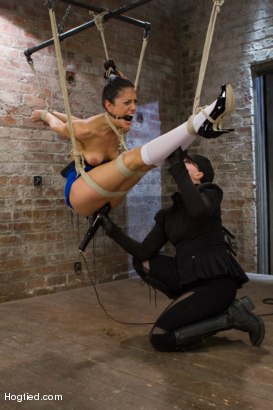 Photo number 5 from Lyla Storm - Complete Edited Live Show shot for Hogtied on Kink.com. Featuring Lyla Storm in hardcore BDSM & Fetish porn.