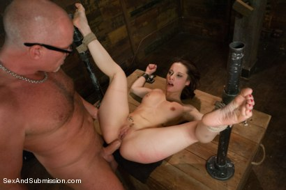 Photo number 12 from FOREIGN EXCHANGE SLAVE! French Student Suffers in Sexual Punishment! shot for Sex And Submission on Kink.com. Featuring Mark Davis and Nikita Bellucci in hardcore BDSM & Fetish porn.