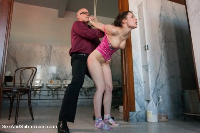 Photo number 5 from FOREIGN EXCHANGE SLAVE! French Student Suffers in Sexual Punishment! shot for Sex And Submission on Kink.com. Featuring Mark Davis and Nikita Bellucci in hardcore BDSM & Fetish porn.