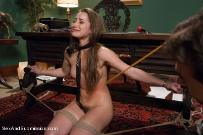Photo number 7 from Private Meetings: The Submission of Dani Daniels shot for Sex And Submission on Kink.com. Featuring James Deen and Dani Daniels in hardcore BDSM & Fetish porn.