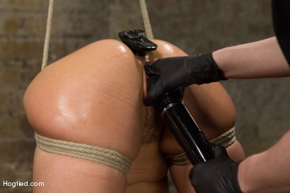 Photo number 9 from Hot Hispanic Drilled & Challenged with Unforgiving Bondage shot for Hogtied on Kink.com. Featuring Kristina Rose in hardcore BDSM & Fetish porn.