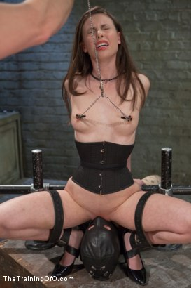 Photo number 6 from Training of the Pretty Girl, Day Three shot for The Training Of O on Kink.com. Featuring Casey Calvert and Owen Gray in hardcore BDSM & Fetish porn.