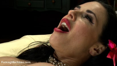Photo number 9 from Want her cookie? Squirting MILF whips up machine orgasms in her Kitchen shot for Fucking Machines on Kink.com. Featuring Veronica Avluv in hardcore BDSM & Fetish porn.
