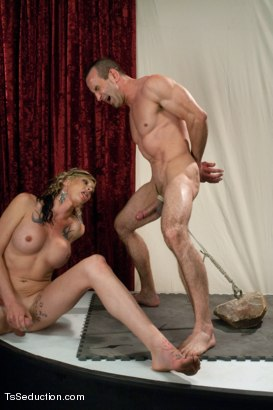 Photo number 4 from American's Next Top Bottom Idol: THE RETURN OF MORGAN BAILEY shot for TS Seduction on Kink.com. Featuring Morgan Bailey and Jason Miller in hardcore BDSM & Fetish porn.
