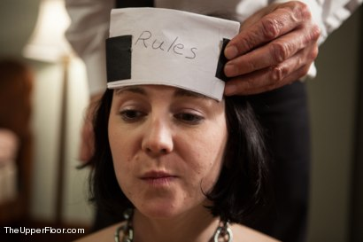 Photo number 14 from Lesbian Slave Training: Orientation Day shot for The Upper Floor on Kink.com. Featuring Coral Aorta, Odile and Aiden Starr in hardcore BDSM & Fetish porn.