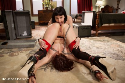 Photo number 11 from Lesbian Slave Training: Orientation Day shot for The Upper Floor on Kink.com. Featuring Coral Aorta, Odile and Aiden Starr in hardcore BDSM & Fetish porn.