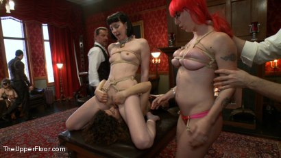 Photo number 10 from Slave Sex Brunch shot for The Upper Floor on Kink.com. Featuring Coral Aorta and Odile in hardcore BDSM & Fetish porn.