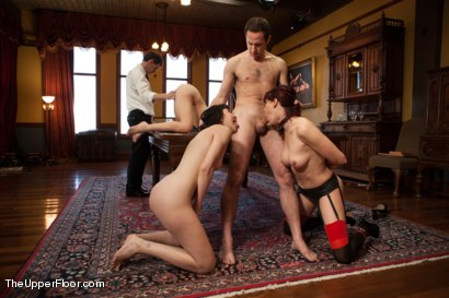 Photo number 4 from Training Day: The Porn Star Plebe shot for The Upper Floor on Kink.com. Featuring Coral Aorta, Odile, Chastity Lynn and Maestro in hardcore BDSM & Fetish porn.
