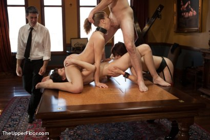 Photo number 7 from Training Day: The Porn Star Plebe shot for The Upper Floor on Kink.com. Featuring Coral Aorta, Odile, Chastity Lynn and Maestro in hardcore BDSM & Fetish porn.